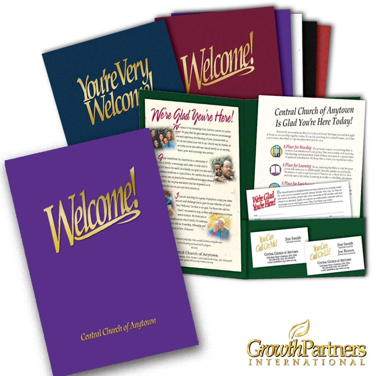 Church visitor welcome packets and folders outreach materials 69 custom welcome folder package m4hsunfo