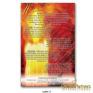leaflet C candle with your church information