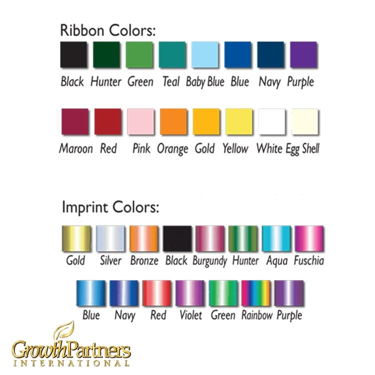color options for customized ribbons