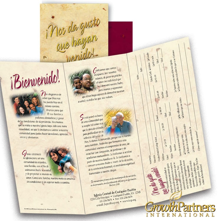 Spanish welcome tri-fold